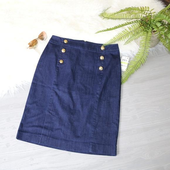 dcf90f3ef Maison Jules Skirts | Nwt Womens Denim Sailor Skirt Size 4 | Poshmark